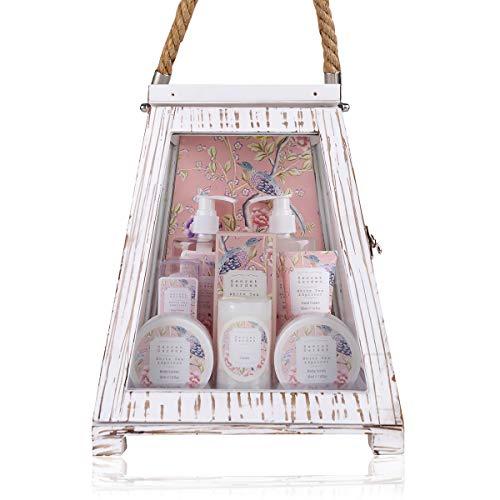 Accentra Geschenkset Secret Garden Bade Und Dusch Set Mit White Tea & Apricot Duft - 11-Teiliges...