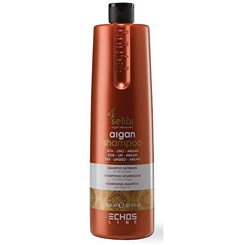 Seliar ®, Echos Line, Nährendes Shampoo mit Leinsamenöl, Seide & Argan, 1000 ml