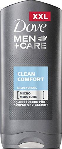 Dove Men+Care Duschgel Clean Comfort (für ein angenehmes Hautgefühl mit milder Formel und Micro...