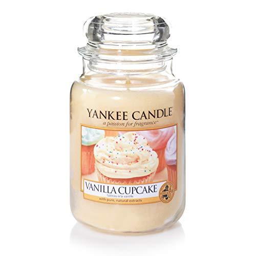 Yankee Candle Duftkerze im großen Jar, Vanilla Cupcake, Brenndauer bis zu 150Stunden