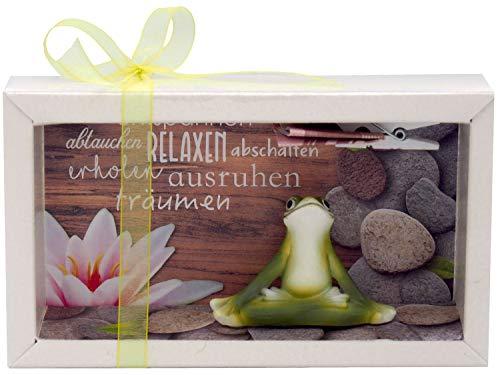 ZauberDeko Geldgeschenk Verpackung Wellness Entspannung Massage Yoga Frosch Gutschein Energiefrosch...