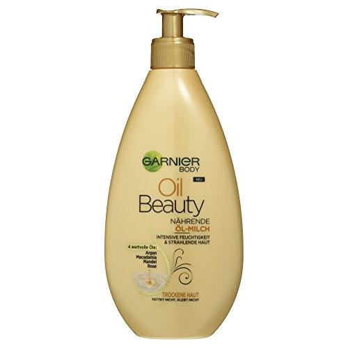 Garnier Oil Beauty Nährende Öl-Milch, reichhaltige Bodylotion mit Arganöl, Mandelöl, Rosenöl...