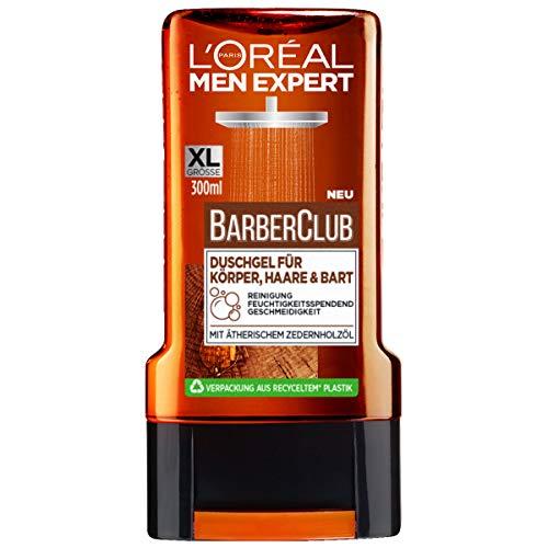 L'Oréal Men Expert Barber Club Duschgel für Körper, Haare & Bart, das reinigende Duschgel mit dem...