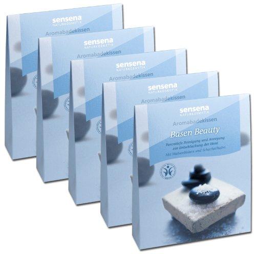 Naturkosmetik Aromabadekissen Vorteilspack'Basen-Beauty', 5x 60 g