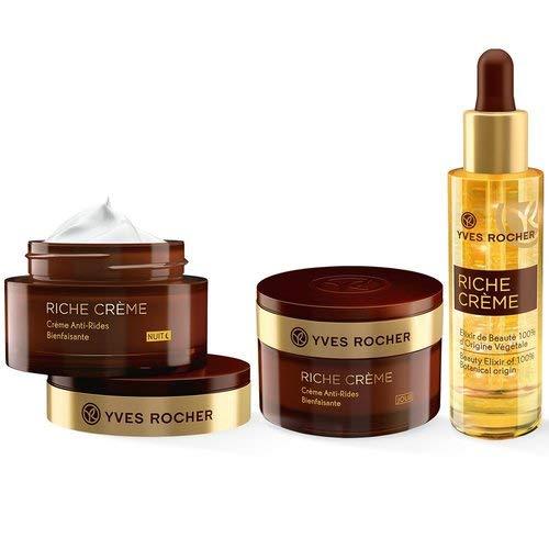 Yves Rocher RICHE CRÈME Pflege-Set, Gesichtspflege-Set für Frauen mit reifer Haut, mit Tages- &...