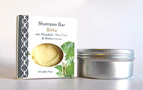 Shampoo Bar mit Birkenextrakt, festes Shampoo in Aludose 70g