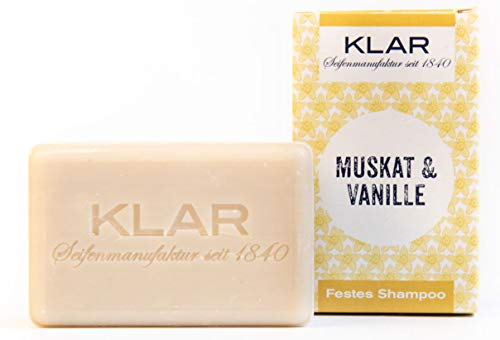 Klar Seifen festes Shampoo Muskat & Vanille, 100 g