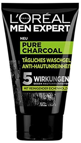 L'Oréal Men Expert, Pure Charcoal Waschgel, gegen unreine Männerhaut (Pickel, Mitesser, fettige...