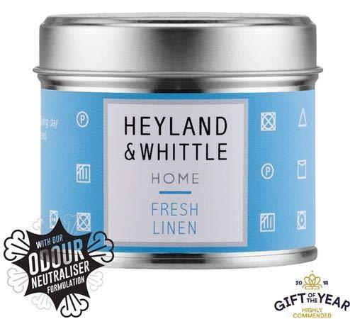 Heyland & Whittle Duftkerze in Dose, Baumwollblume und Mimose, 180 g