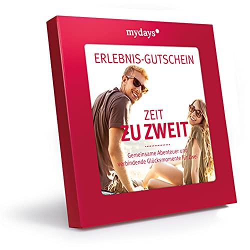 mydays Erlebnis-Gutschein Zeit zu zweit für 2 Personen, über 425 Erlebnisstandorte, Paar Geschenk,...