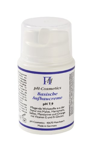 Aufbaucreme, basisch, pH 7, 9, ph-Cosmetics, Basen Creme die aufbaut, Tagescreme und Nachtcreme, 50...