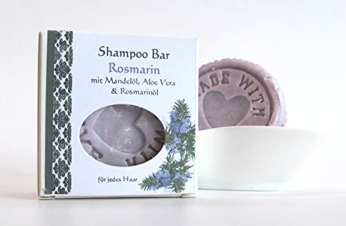 Shampoo Bar mit Ätherischem Rosmarinöl,festes Shampoo, Shampoostein 70g