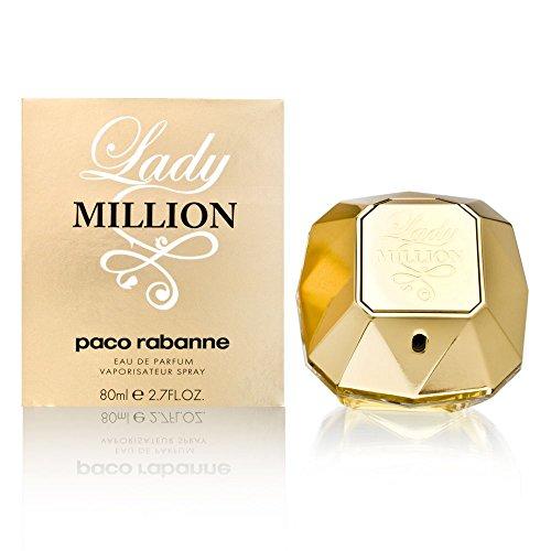 Paco Rabanne Lady Million Eau De Parfum Spray für Damen Pack (1x 80 ml)