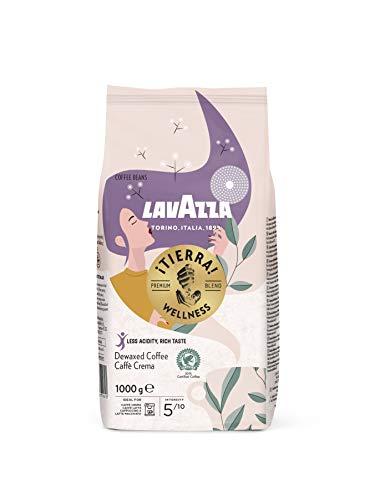 Lavazza ¡Tierra! Wellness, 1kg Packung, 80% weniger Koffein, Arabica- und Robusta Kaffeebohnen