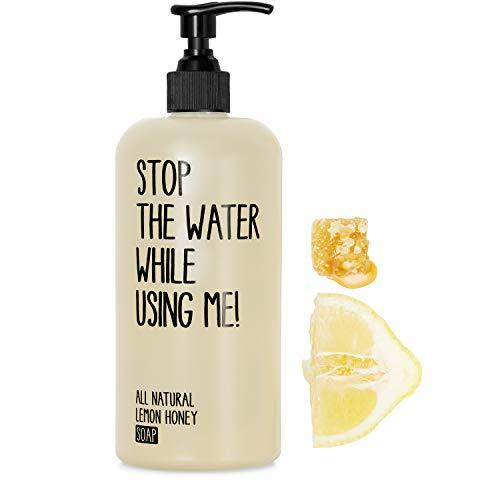 STOP THE WATER WHILE USING ME! All Natural Lemon Honey Soap (500ml), natürliche Handseife im...