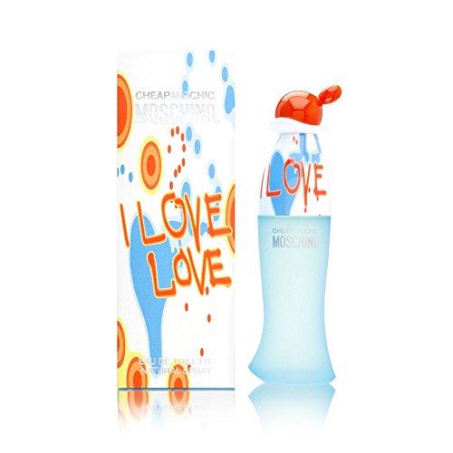 Moschino, I Love Love, EDT Vapo 100 ml, 1er Pack (1 x 100 ml)