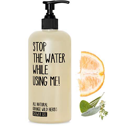 STOP THE WATER WHILE USING ME! All Natural Orange Wild Herbs Shower Gel (500ml), veganes Duschgel im...