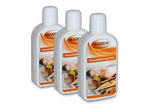 Exklusiver Warda Saunaaufguss 3x 200 ml Sauna Duftkonzentrat Aufguss nach Wahl aus 160 Duftvarianten