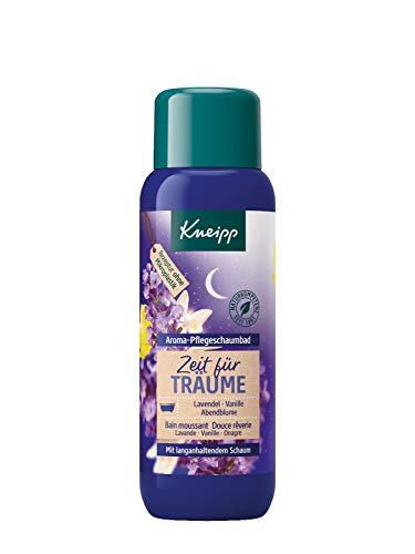 Kneipp Aroma-Pflegeschaumbad Zeit für Träume Lavendel Vanille und Abendblume, 1er Pack (1 x 400...