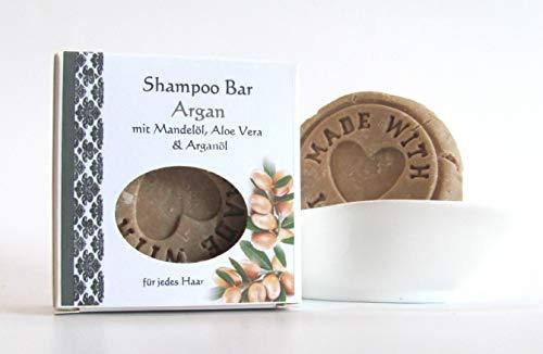 Shampoo Bar mit Argan, festes Shampoo, Shampoostein 70g