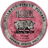 REUZEL Pomade Pink Grease Heavy Hold, 1er Pack (1 x 340 g)
