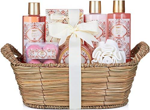 BRUBAKER Cosmetics Bade- und Dusch Set Aprikose und Granatapfel Duft - 11-teiliges Geschenkset im...