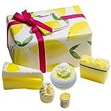 Bomb Cosmetics Lemon Aid Handgefertigte Bade- und Körperpflegepackung, enthält 5 Stück, 450 g