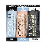 men-ü - 3 x 15 ml - Skin Refresher Set - Rasur & Gesichtspflege für fettige Haut - Travel