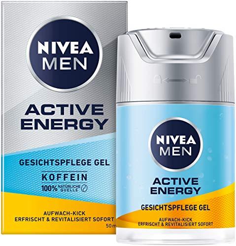 NIVEA MEN Active Energy Gesichtspflege Gel (50 ml), revitalisierende Gesichtscreme für Männer,...