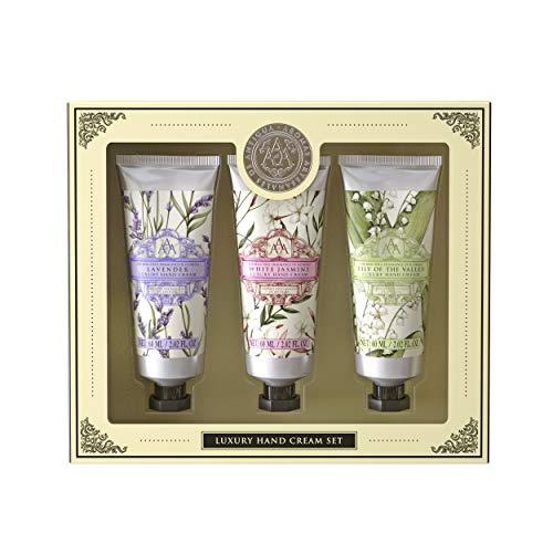 Aromas Artesanales De Antigua Luxury Hand Cream Trio Set - 3 x 60ml - Lavender Jasmine Lily