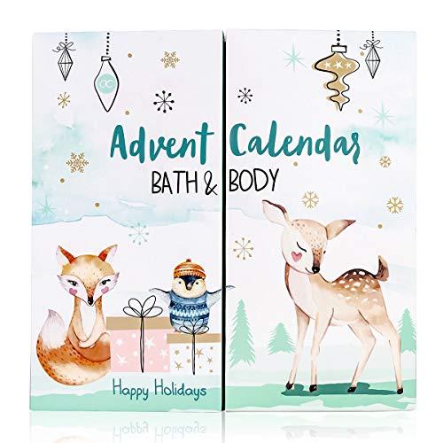 accentra Adventskalender Happy Holidays 2020 für Mädchen mit 24 Bade-, Körperpflege und...
