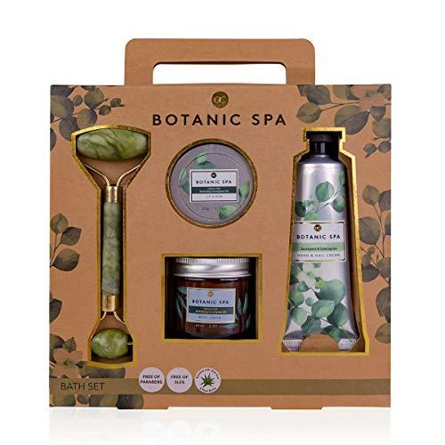 Accentra Beauty Geschenkset BOTANIC SPA mit Massageroller in Jade-Optik, Hand- & Nagelcreme,...