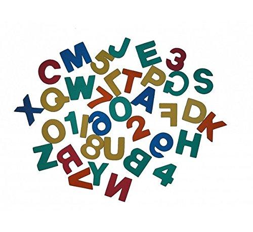 Badesticker Badespielzeug - Moosgummi ABC Buchstaben & Zahlen 36 Stück Stärke 0,8cm...
