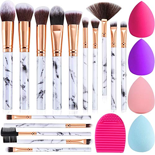 Make up Pinsel DUAIU 15PCs Pinselset Makeup Schminkpinsel Set Synthetische Rouge Contour Foundation...