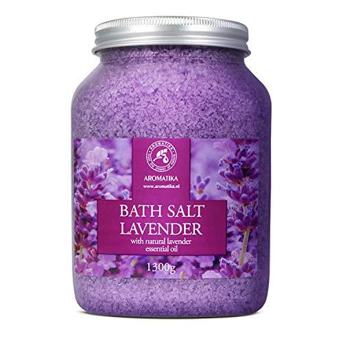 Badesalz Lavendel 1300g - Meersalz mit 100% Natürlichem Ätherischen Lavendelöl - Natur Bade-Salz...