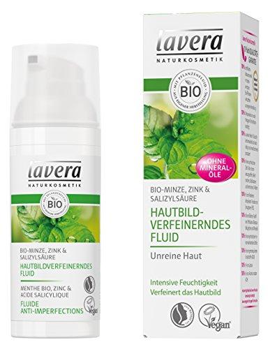 lavera Hautbildverfeinerndes Fluid, Reines und ebenmäßiges Hautbild. Unreine Haut, Intensive...