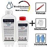 Epoxidharz klar mit Härter 7,5kg | Transparentes Laminier- & Gießharz speziell für Kunst-...