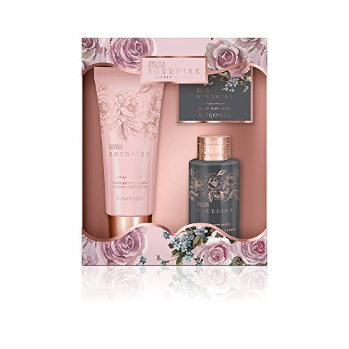 Baylis & Harding Boudoir Midnight Rose Petals Bad Essentials Trio Geschenk Set