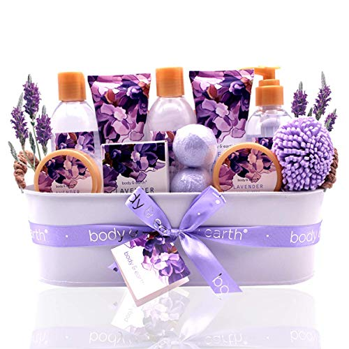 Geschenkset für Frauen - Body&Earth Spa-Kit für Frauen 12 Pcs Badesets mit Lavendel Duft, Enthält...