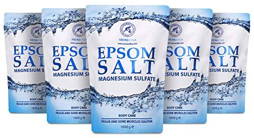 Epsom Salz 5kg - Bittersalz - Magnesiumsulfat - Badesalz für Magnesiumbäder - 100% Natürliches...