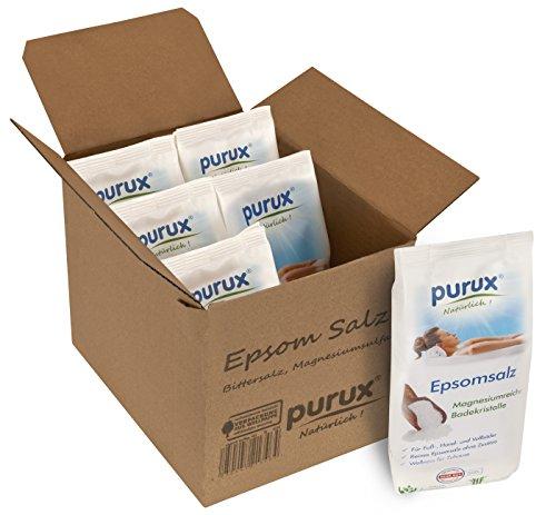 Purux Magnesiumsulfat Bittersalz 5,1 kg Epsom Salz Lebensmittelqualität, Food Grade