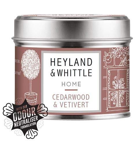 Heyland & Whittle - Welcome Home Kerze in einer Dose (Zedernholz und Vetiver), 180 g.