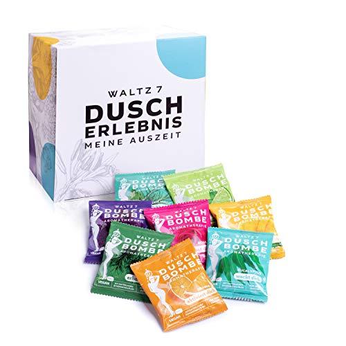 WALTZ7 Original Duschbomben Set, 16 Stück mit 8 Düften, Aromatherapie mit natürlichen...