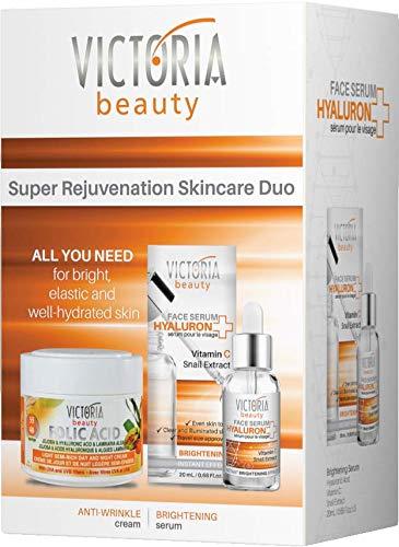 Victoria Beauty - Geschenkset für Frauen, Gesichtspflege Set, Geschenkbox für Damen mit Vitamin C...