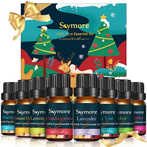 Skymore Naturreine Ätherische Öle Set, Pure Duftöle Set Für Diffuser (Zitronengras, Lavendel,...