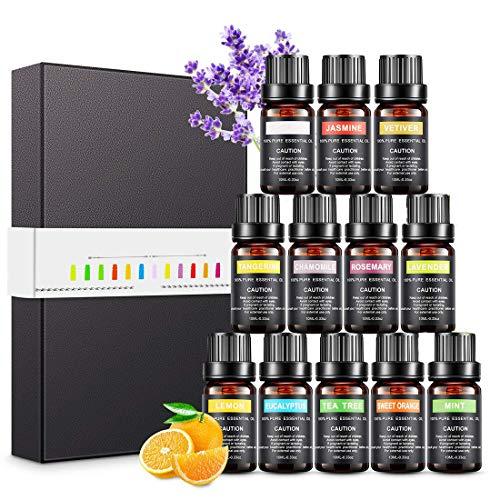 Magicfun Ätherische Öle Set, Aromatherapieöle Geschenkset 12 Stück 10 ml, 100% Reine Natürliche...