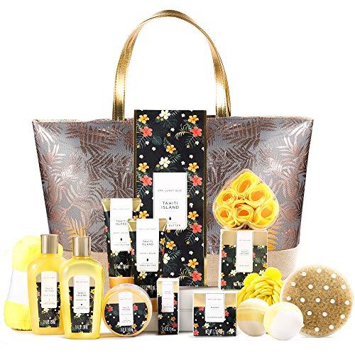 Bad Geschenkset, SPA LUXETIQUE Beauty Set für Frauen 15-teiliges Geburtstagsgeschenk, Schaumbad Spa...