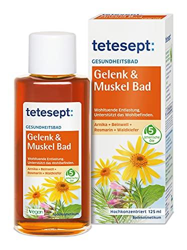 tetesept Gelenk & Muskel Bad – Wohltuendes Gesundheitsbad mit 5 ätherischen Ölen – Flüssiger...