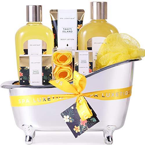 Bad Geschenkset, SPA LUXETIQUE Beauty Set für Sie 8-teiliges Geburtstagsgeschenk, Schaumbad Spa...