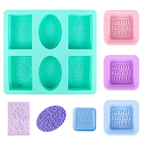 Chudian Seifenformen Silikon, 3X Rechteckige Seifenformen Soap Mold für handgefertigte Seife DIY...